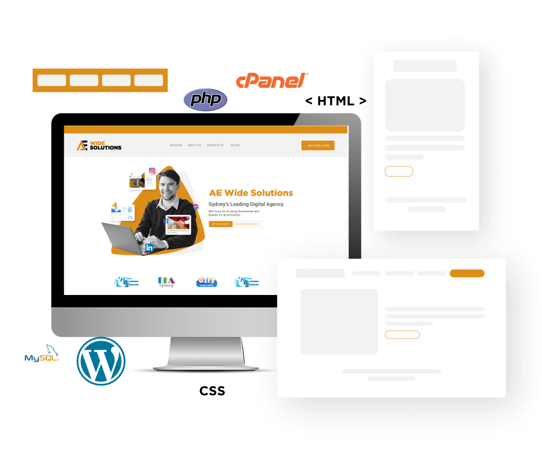 website designing ae wide solutions