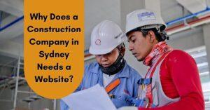 construction company needs a website